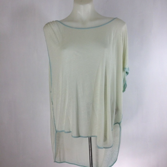 Free People Tops - We The Free Pluto Linen Blend One Shoulder T-Shirt